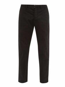 J.w. Brine - Austin Cotton Blend Herringbone Trousers - Mens - Black