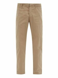 J.w. Brine - Austin Straight Leg Cotton Blend Chino Trousers - Mens - Beige