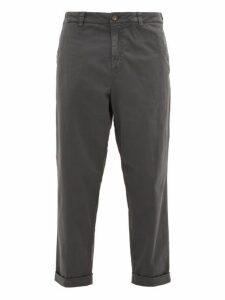 J.w. Brine - Nolita Cotton Blend Straight Leg Chino Trousers - Mens - Grey