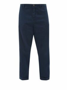 J.w. Brine - Nolita Cotton Blend Straight Leg Chino Trousers - Mens - Navy