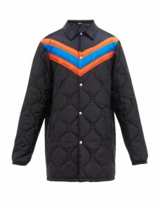 Gucci - Chevron Striped Quilted Jacket - Mens - Navy