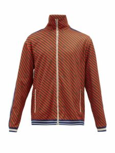 Gucci - Striped Technical Jersey Track Jacket - Mens - Orange Multi