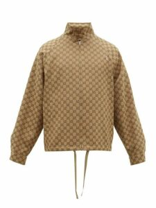 Gucci - Gg Jacquard Canvas Bomber Jacket - Mens - Brown