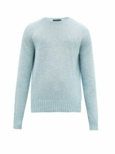 Prada - Crew Neck Wool Sweater - Mens - Light Blue