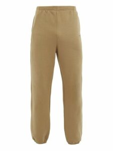 Balenciaga - Logo Print Cotton Track Pants - Mens - Cream