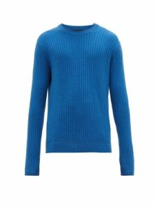Allude - Ribbed Cashmere Sweater - Mens - Blue
