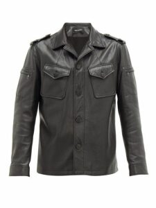 Neil Barrett - Patch Pocket Leather Jacket - Mens - Black