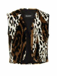 Neil Barrett - Leopard Print Faux Fur Gilet - Mens - Multi