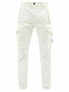 Sies Marjan - Andy Belted High Rise Twill Trousers - Mens - Green