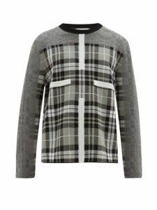 Craig Green - Birdseye Tartan Wool Sweater - Mens - Grey