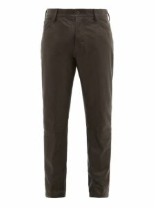 Ann Demeulemeester - Leather Straight Leg Trousers - Mens - Black