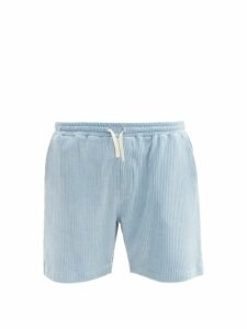Marni - Wide Leg Brushed Cotton Trousers - Mens - Brown Multi