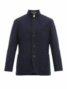 Brunello Cucinelli - Pressed Cashmere Jacket - Mens - Blue