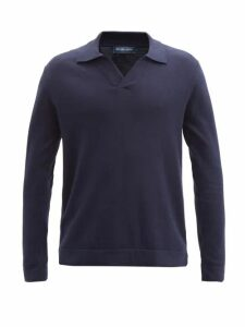 Bode - Striped Cotton Jacket - Mens - Burgundy Multi