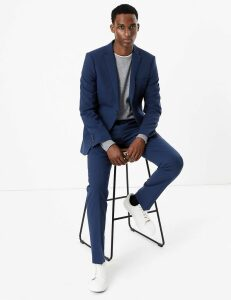 M&S Collection The Ultimate Blue Skinny Fit Jacket
