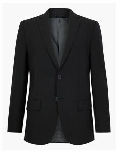M&S Collection The Ultimate Navy Checked Regular Fit Jacket