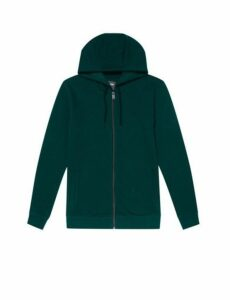 Mens Green Scarab Zip Through Hoodie, MID GREEN