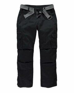 Jacamo Black Carson Cargo Pant Long
