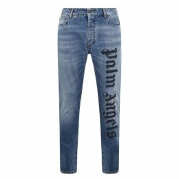 Palm Angels Logo 5 Pocket Jeans