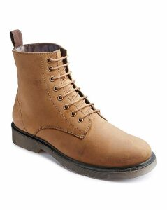 Jacamo Lace Up Military Boots Extra Wide