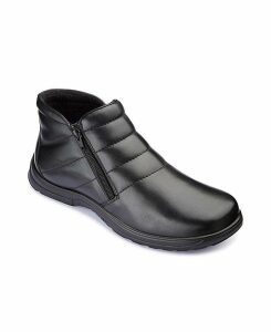 Dr Keller Double Zip Boots Extra Wide