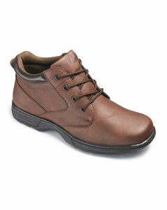 Cushion Walk Lace Up Boots Wide Fit