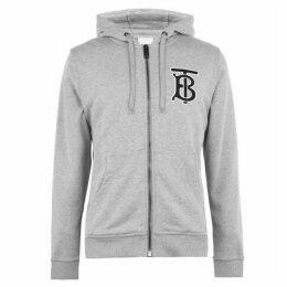 Burberry Monogram Motif Hooded Zip Sweatshirt