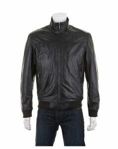 Woodland Leather Bomber Jacket