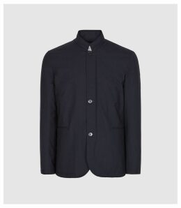 Reiss Faulkner - Lightweight Funnel Neck Jacket in Navy, Mens, Size XXL