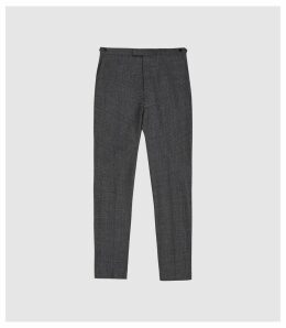 Reiss Move - Wool Blend Slim Fit Trousers in Charcoal, Mens, Size 38