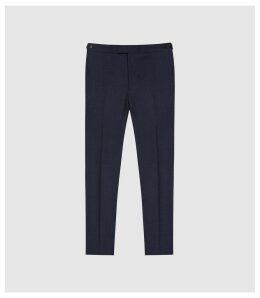 Reiss Steam - Wool Blend Slim Fit Trousers in Navy, Mens, Size 38