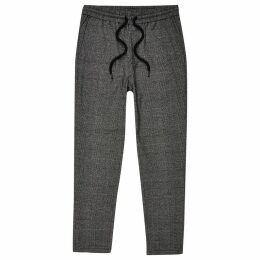 Mens River Island Only & Sons Grey check track pants