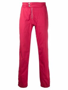 Jean Paul Gaultier Pre-Owned 1990's elasticated slim trousers - Red