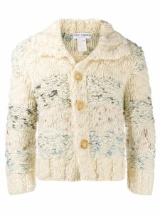 Dolce & Gabbana Pre-Owned 1990's buttoned thick knit jacket - White