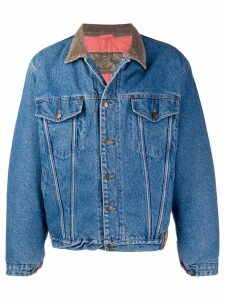 Giorgio Armani Pre-Owned 1980's buttoned denim jacket - Blue