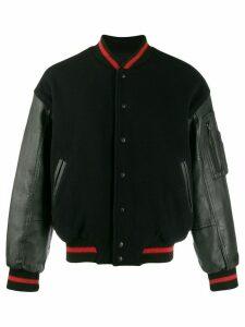 Kansai Yamamoto Pre-Owned leather bomber jacket - Black