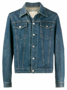 Helmut Lang Pre-Owned 1990's stitching denim jacket - Blue