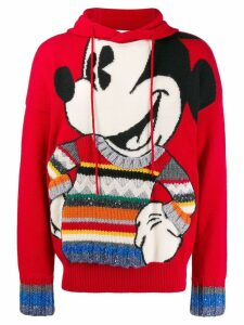 JC de Castelbajac Pre-Owned Mickey Mouse drawstring knitted hoodie -