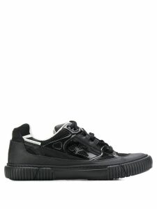 Both ribbed sole low top sneakers - Black