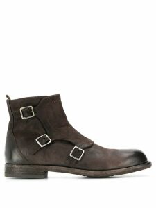 Officine Creative buckled boots - Brown