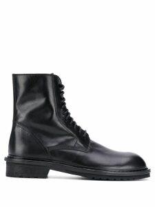 Ann Demeulemeester side zip boots - Black