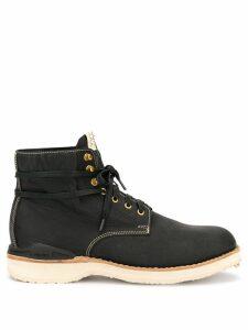 Visvim ankle lace-up boots - Black