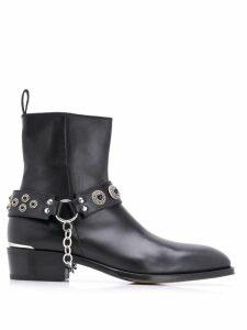 Alexander McQueen Harness Cuban heel boots - Black