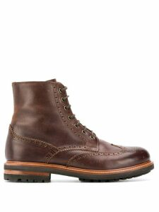 Brunello Cucinelli brogue detail boots - Brown