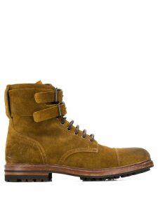 Brunello Cucinelli suede buckle boot - Brown