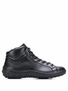 Car Shoe lace-up ankle boots - Black