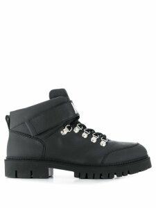 Moschino flat hiking boots - Black