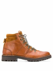 Eleventy padded ankle lace-up boots - Brown