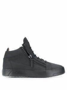 Giuseppe Zanotti hi-top zipper sneakers - Black