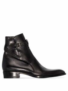 Saint Laurent Wyatt buckled ankle boots - Black